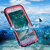 BuySShow Waterproof iPhone 7 Case Full Sealed Dust-proof Anti-shock Anti-impact Anti-Scratch for iPhone 7 (iPhone 7 Case(Pink))