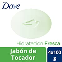 Dove Jabón de Tocador, Go Fresh Hidratación Fresca, 100 gr, Paquete de 4 Piezas