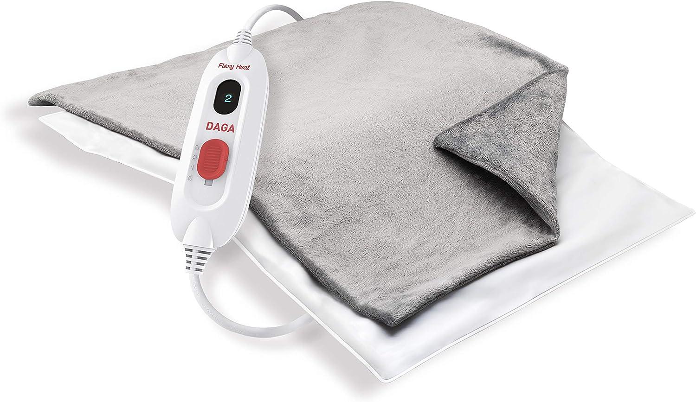 Daga E2P Flexy Heat - Almohadilla eléctrica, 45 x 35 cm, 110 W, 3 temperaturas, funda textil lavable