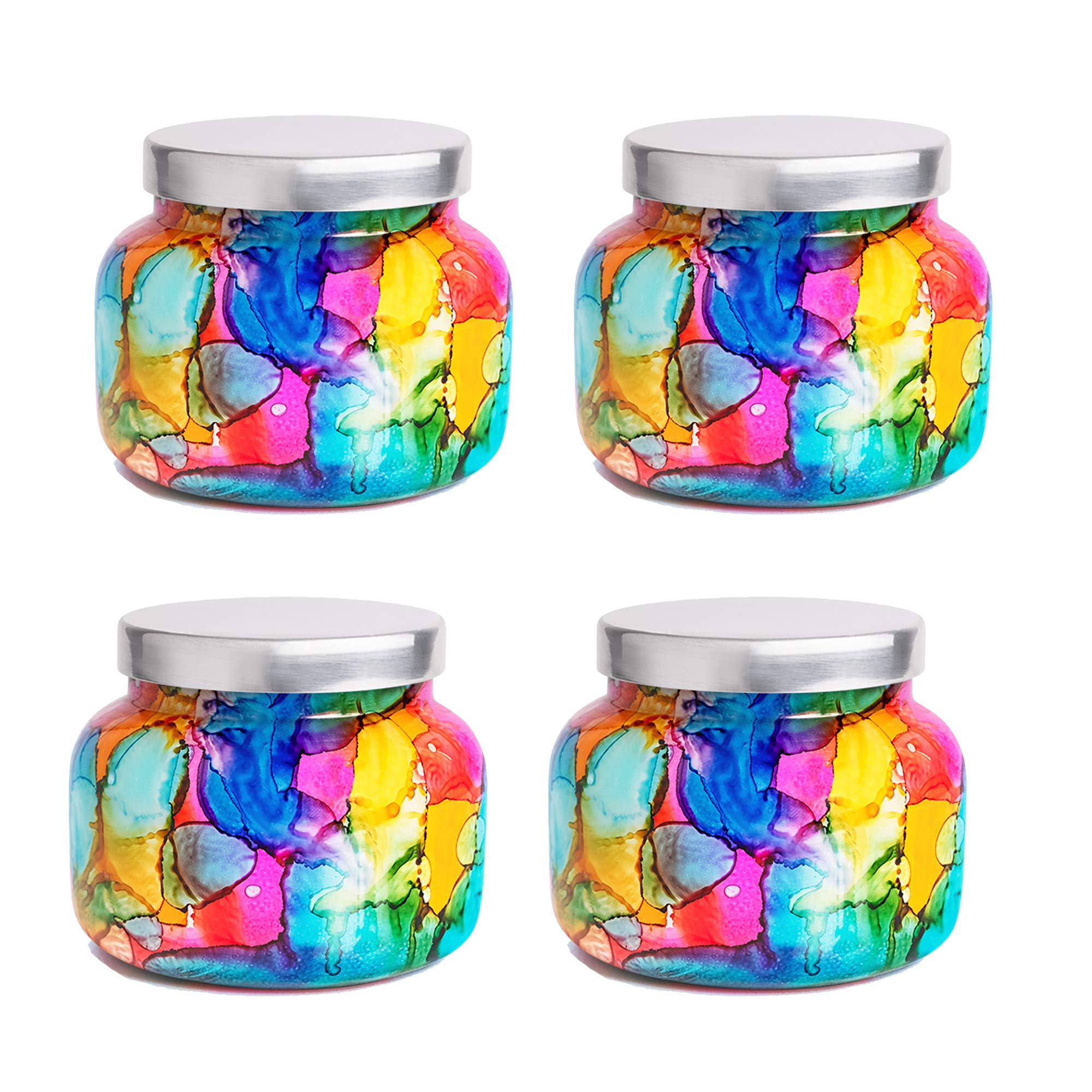 Capri Blue 19 oz Rainbow Signature Jar Volcano Candle (4 Pack), Assorted, One Size