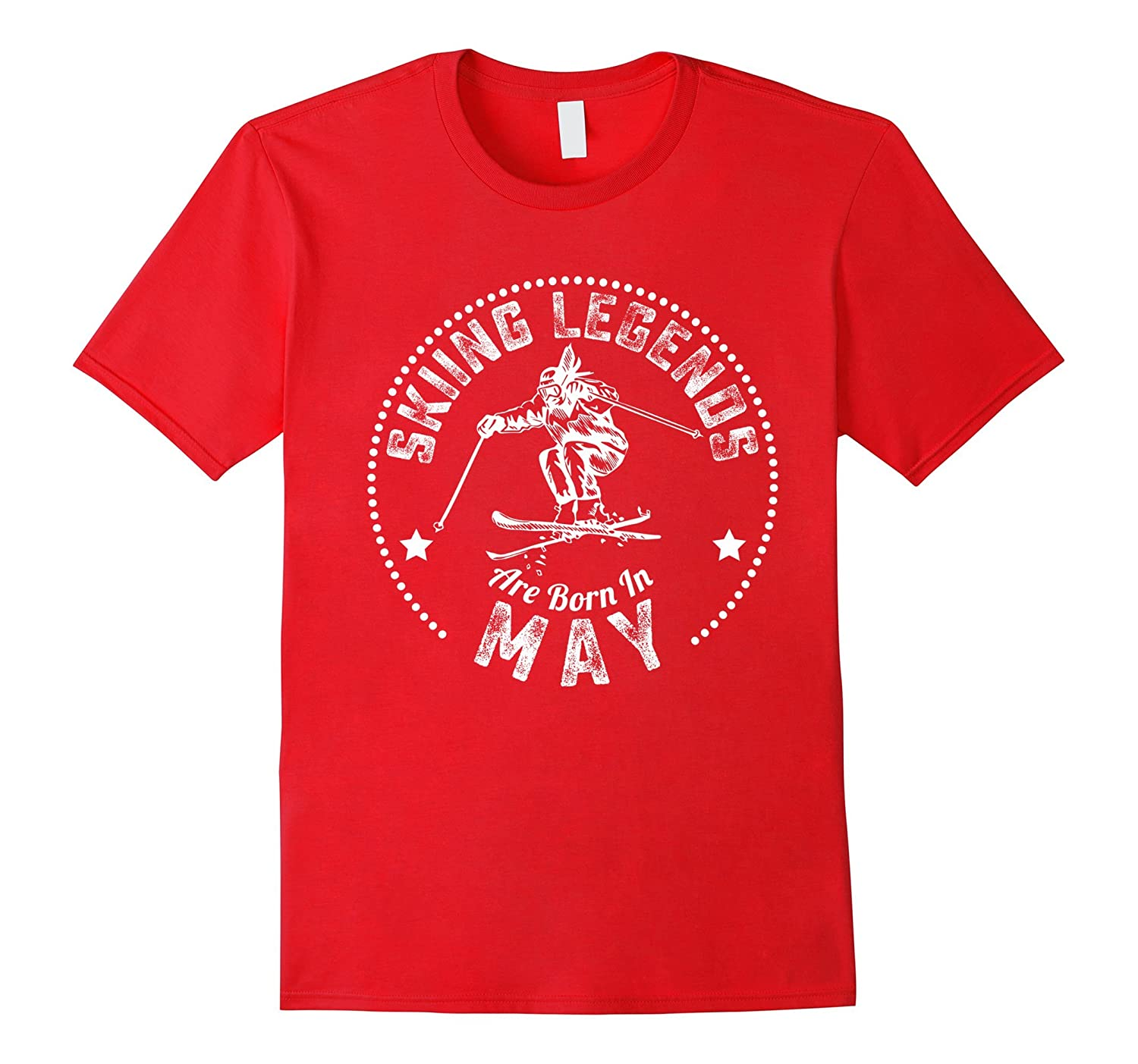 Funny T-Shirt Skiing Legends Are Born In May-Vaci