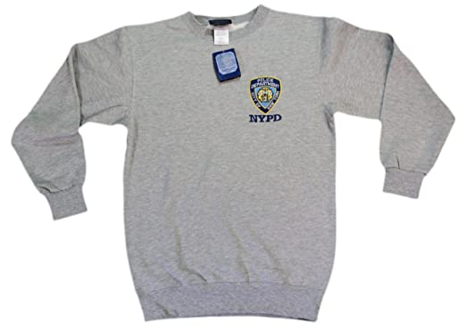 1d67dee0d Amazon.com: NYPD Mens Police Crewneck Sweatshirt Gray XX-Large: Clothing
