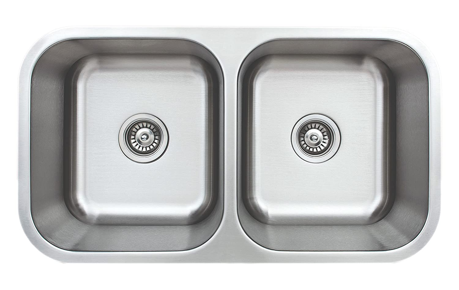 Wells Sinkware CMU3318-99 Craftsmen Series Kitchen Sink, 33 50 50 9 Deep, Brushed Matte Finish