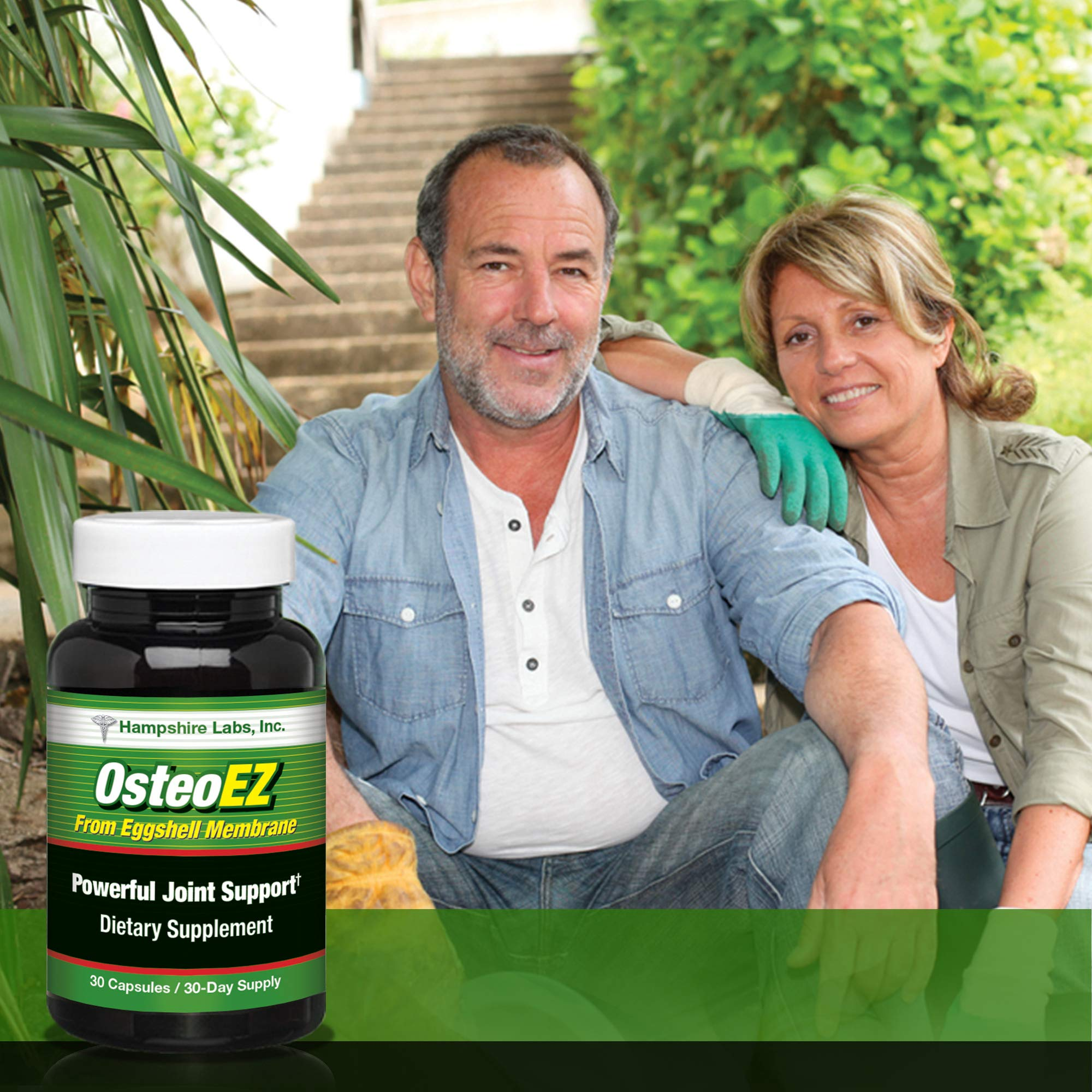 OsteoEZ All-Natural Dietary Supplement Joint Formula Targets Joint discomfort  Supports Your Joint tissues to Help Promote Flexibility and Mobility and Provide Cushioning. 180 Day Supply.