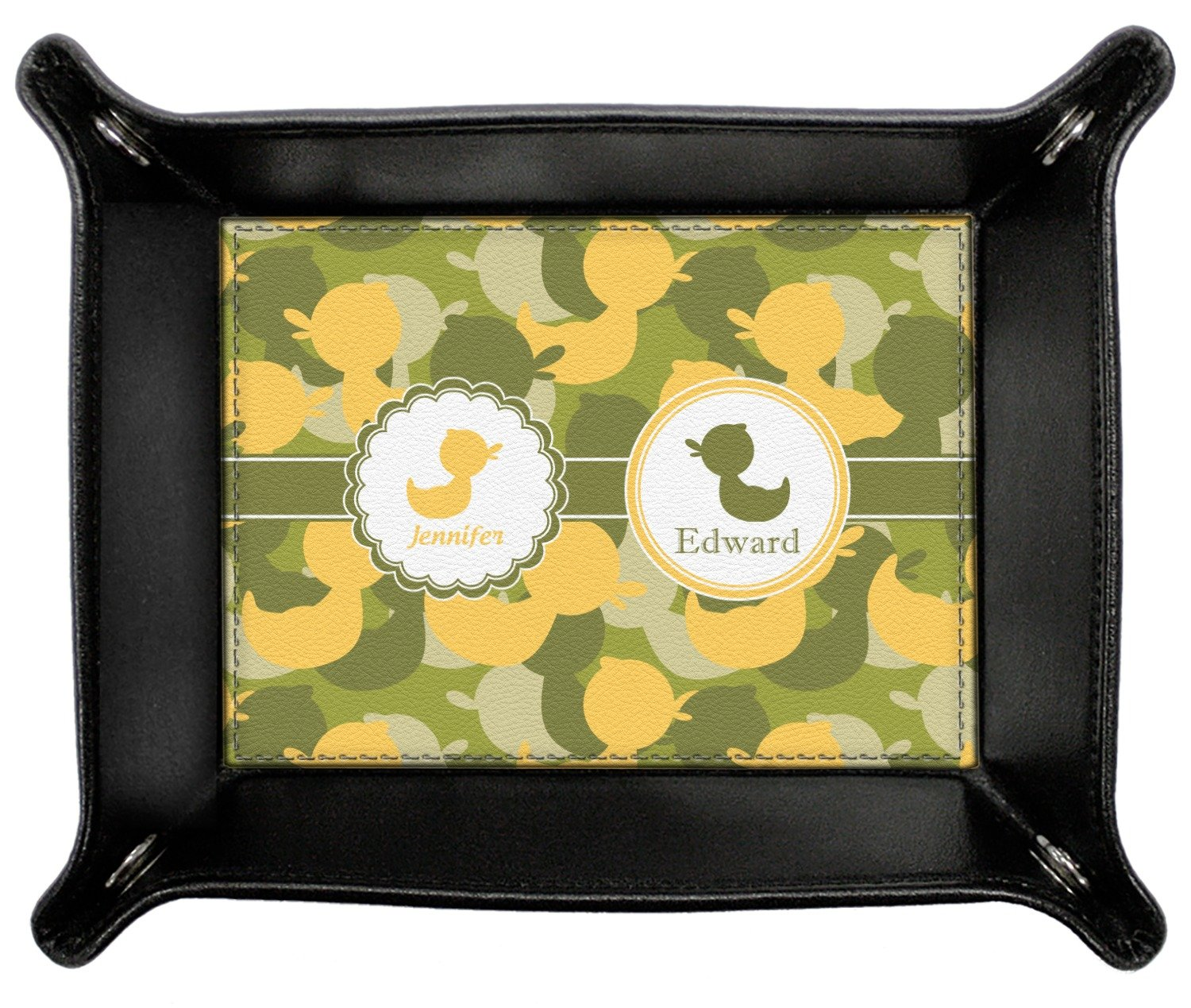 Rubber Duckie Camo Genuine Leather Valet Tray (Personalized)