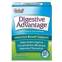Intensive Bowel Support Probiotic Supplement - Digestive Advantage 96 Capsules,...