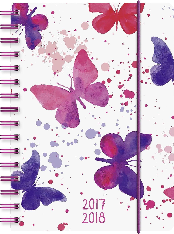 Brunnen Calendario Scolastico, 1 Giorno Per Pagina, Calendario: Agosto 2017A Luglio 2018, 352Pagine Rilegatura In Polipropilene, 1 Pagina = 1 Giorno Farfalla