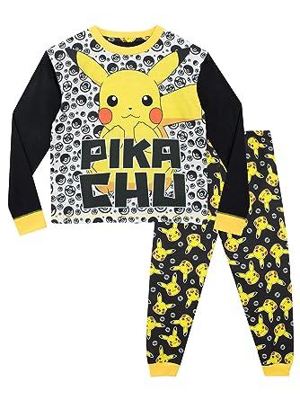 0cb31473bcda Amazon.com  Pokemon Boys  Pikachu Pajamas Size 10 Multicolored  Clothing