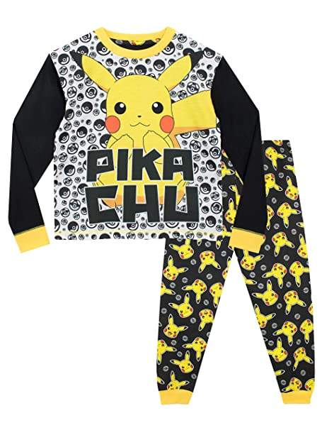 Pokèmon Pijamas de Manga Larga para niños Pikachu: Amazon.es: Ropa y accesorios