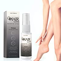 Hair Removal Spray with Growth Inhibitor, Painless Liquid Remover for Legs, Arms, Armpit, Face, and Sensitive Areas, No Burning or Itching, Permanent Results