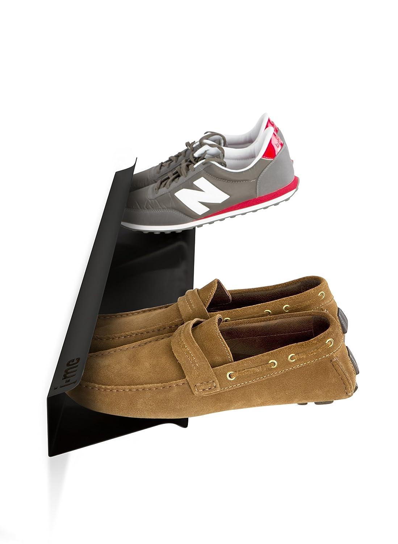 j-me original design Horizontal Shoe Rack, Black, 700 mm JMEHOR700-BLK