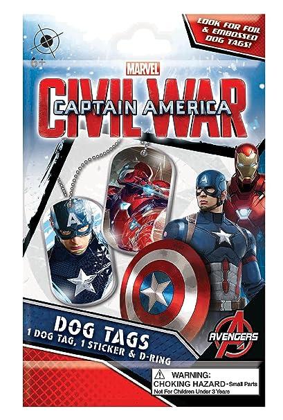 Amazoncom Tech4kids Captain America Civil War Dog Tags Toys Games