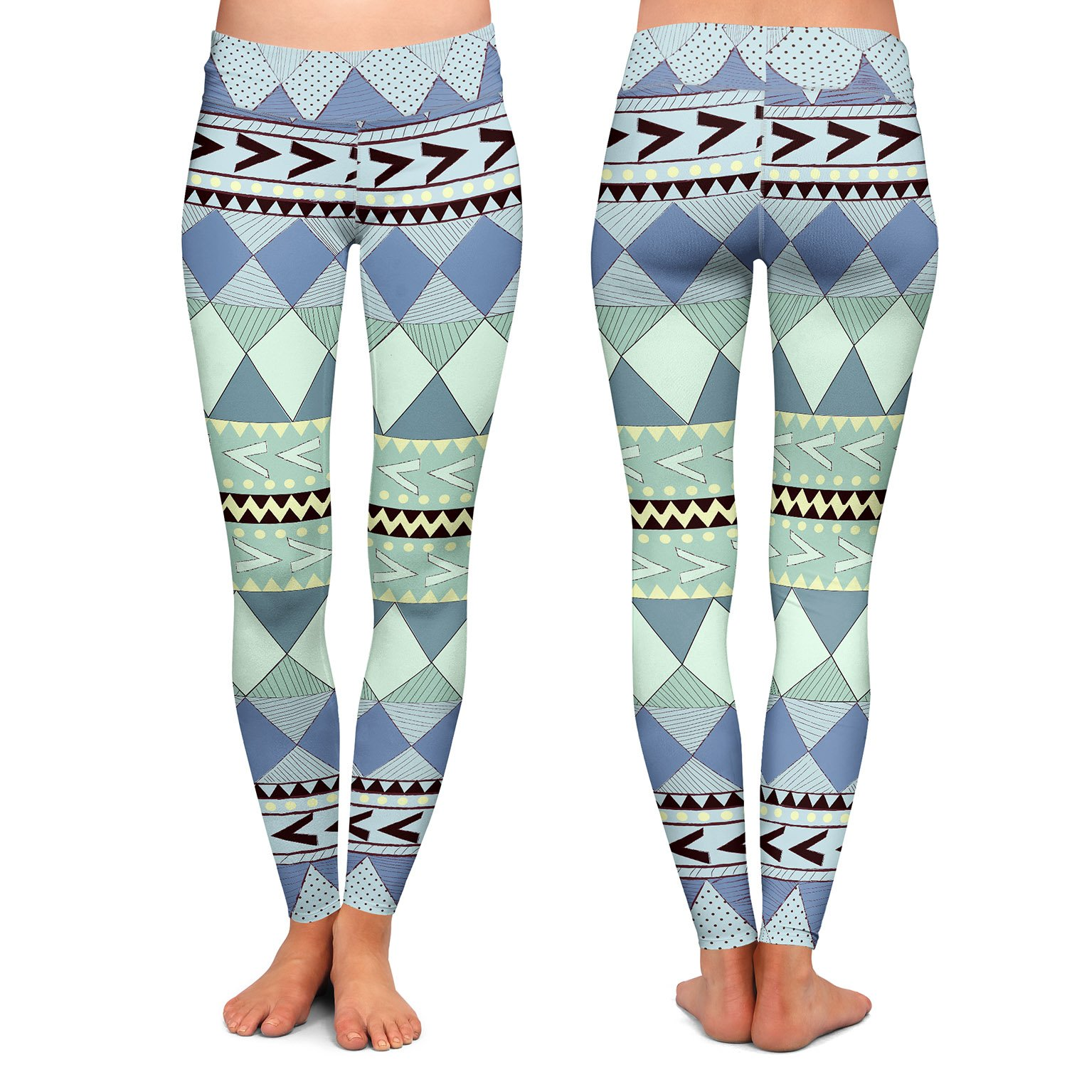Athletic Yoga Leggings from DiaNoche by Nika Martinez Purple Native Forest
