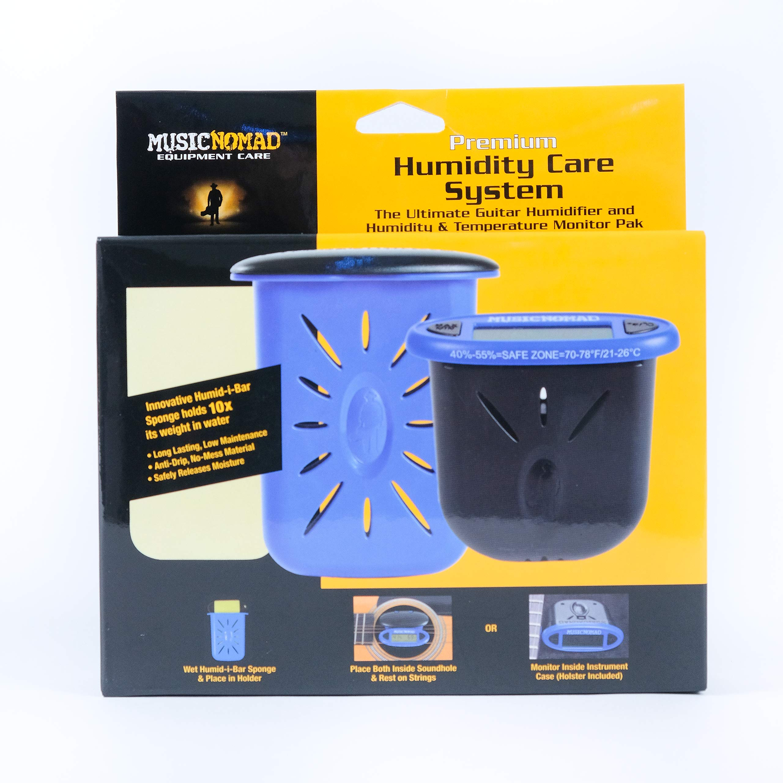 Music Nomad MN306 Premium Humidity Care System, Humitar & Humireader by MusicNomad