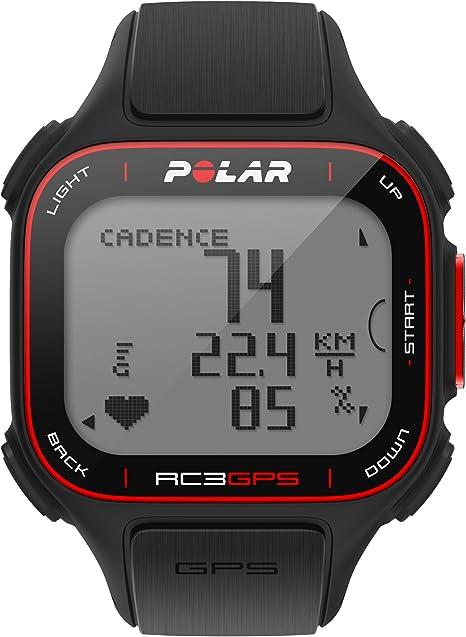 Polar RC3 GPS Reloj con pulsómetro y GPS integrado y sensor de cadencia para bicicleta, Negro: Amazon.es: Deportes y aire libre