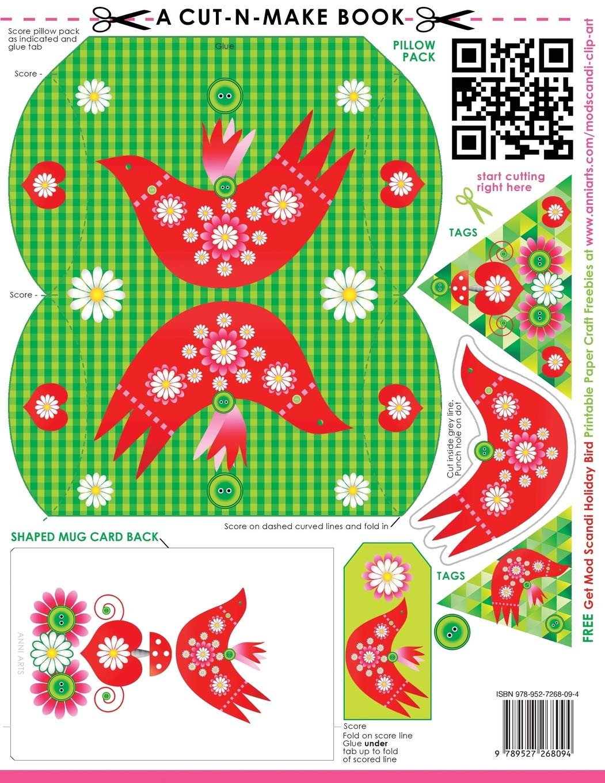 Mod Scandi Holiday Bird Cut-n-Make Book: Scandinavian