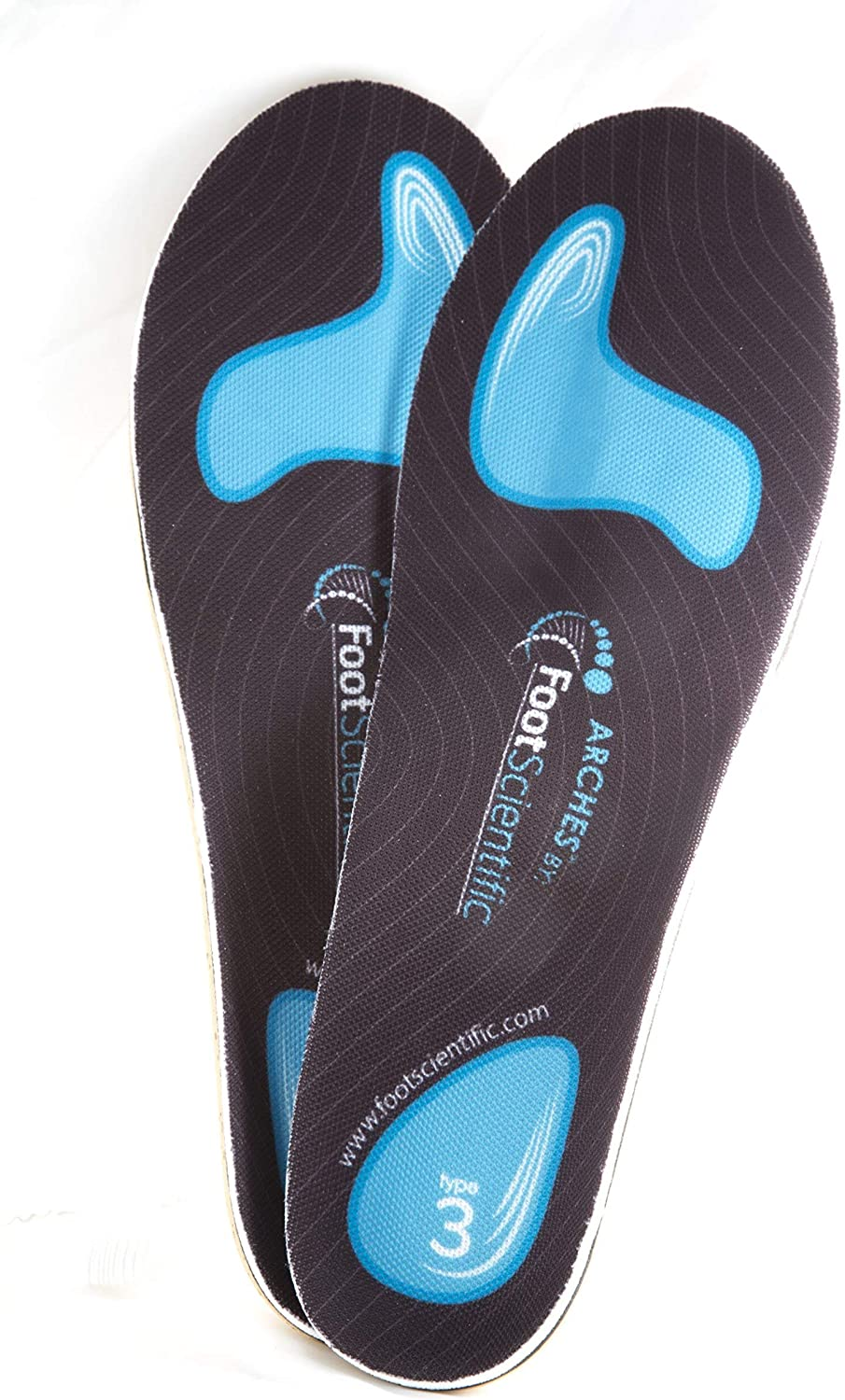 FootScientific® Arches Type 3 (High Arch) Orthotic Shoe Insoles
