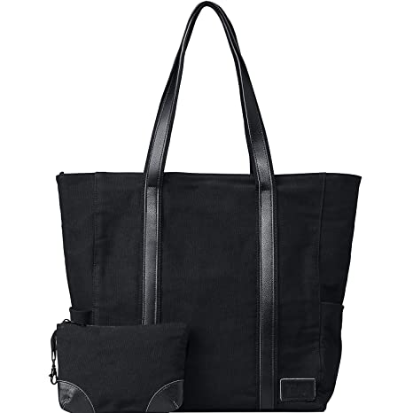 47a0d453c Amazon.com: WEWEON Professional Teacher Tote Bag Laptop Computer Work Bags  for Women Large Heavy Duty Canvas: Computers & Accessories