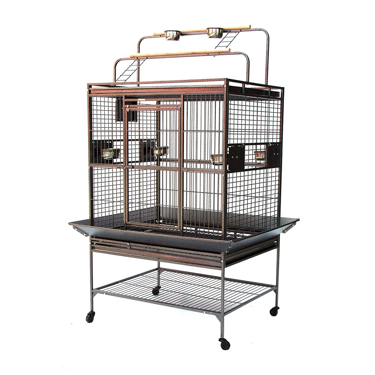 Large Flyline Grey Palace Play Top Bird Cage Parred Aviary (Large)