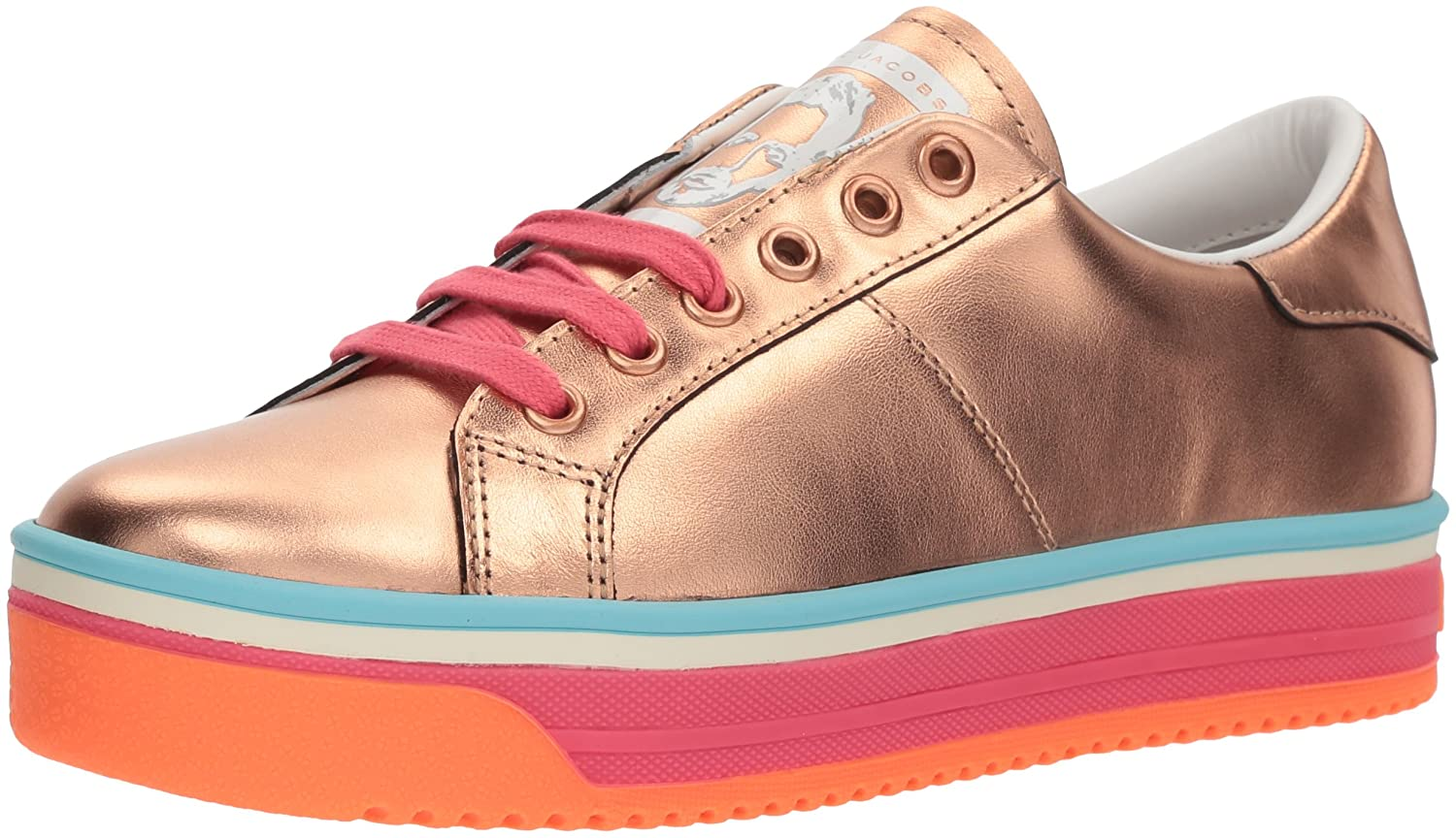 Marc Jacobs Women's Empire Multi Color Sole Sneaker B075Y62HHN 37 M EU (7 US)|Rose Gold/Hot Pink/Multi