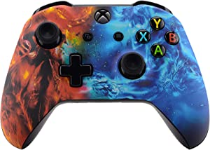 eXtremeRate Conflict Soul Patterned Front Housing Shell Case for Xbox One S/X Controller, Soft Touch Faceplate Cover Replacement Kit for Wireless Controller (Model 1708) - Controller NOT Included