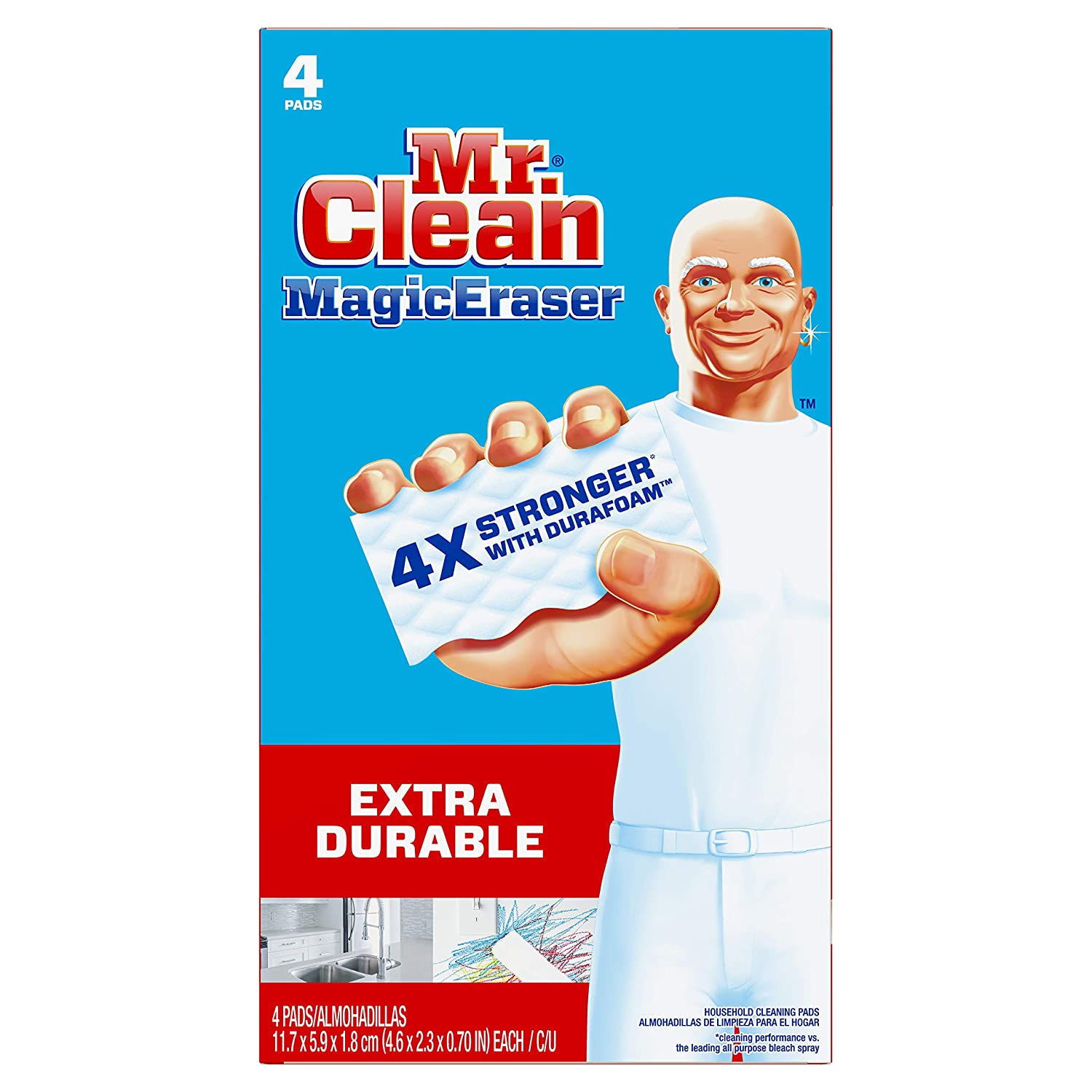 Mr. Clean Magic Eraser Original 4 Count- Packaging May Vary Mr Clean 82027
