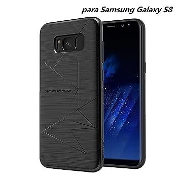 Nillkin Samsung Galaxy S8 Funda, Flexible Suave TPU Caso Contraportada [Compatible Cargador Inalámbrico Coche] para Samsung Galaxy S8 2017 Negro