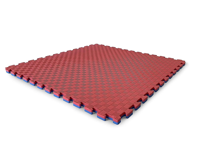 spessore 25 mm variet/à di colori 1 M2, ROSSO//BLU Pavimento sportivo puzzle tatami in gomma eva