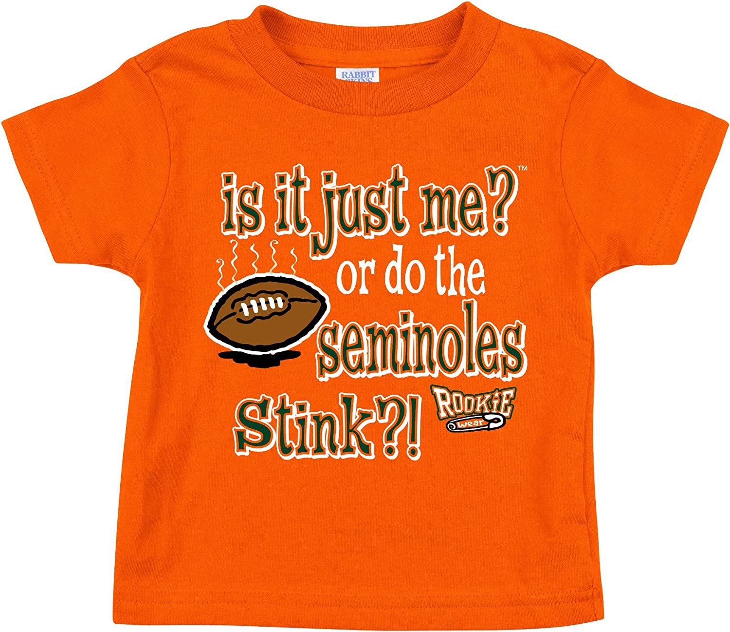 Smack Apparel Miami Hurricanes Fans is It Just Me? NB-18M 2T-4T Onesie or Toddler Tee