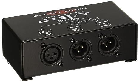 Galaxy Audio JIBY Jacks In The Box Microphone Splitter