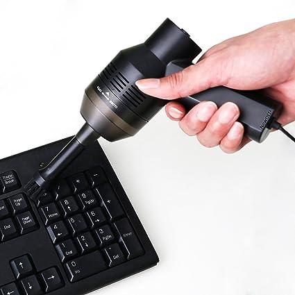 Mini USB aspirador, newbep para el teclado de ordenador escritorio instrumento de reunión de aspiradora con