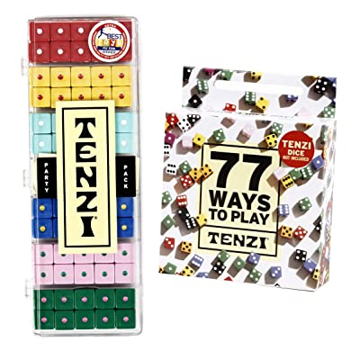 TENZI Party Pack Dice Game Bundle with 77 Ways to Play A Fun, Fast Frenzy for The Whole Family - 6 Sets of 10 Colored Dice - Colors May Vary: Toys & Games