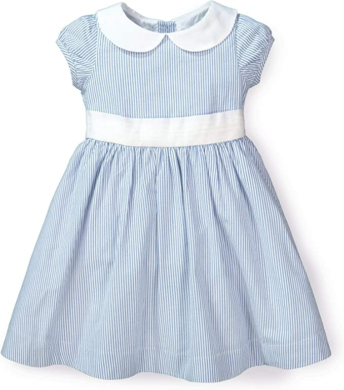 Kids 1950s Clothing & Costumes: Girls, Boys, Toddlers Hope & Henry Layette Baby Girl Woven Short Sleeve Dress with Peter Pan Collar $24.95 AT vintagedancer.com