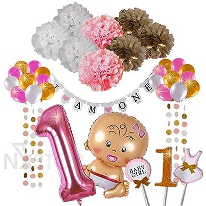 Amazon.com: Primer cumpleaños Decoraciones – I am One Banner ...