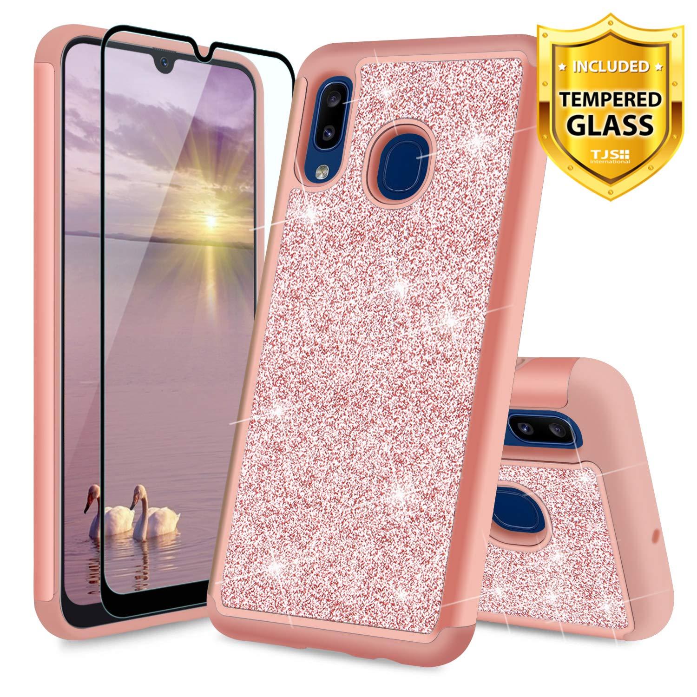 Funda + Vidrio para Samsung Galaxy A20 / A30 Glitter TJS [7TXNB2LK]