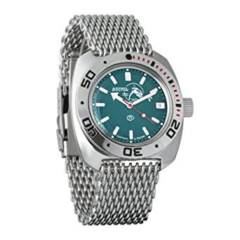 Vostok Amphibian Scuba Dude Automatic Mens Wristwatch Self-Winding Military Diver Amphibia Ministry Case Wrist