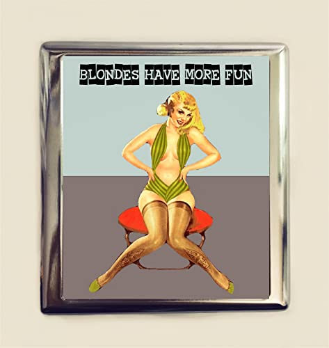 Amazon blondes have more fun cigarette case business card id blondes have more fun cigarette case business card id holder wallet pin up girl funny humor colourmoves Choice Image