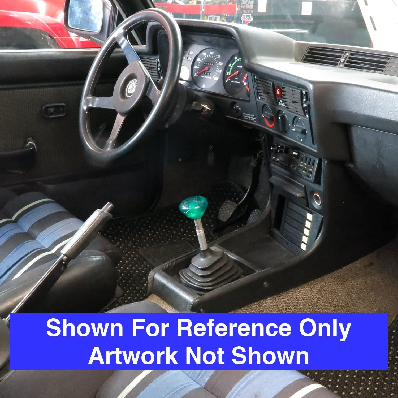 American Shifter 208603 Green Retro Metal Flake Shift Knob with M16 x 1.5 Insert Black Shift Pattern 33n