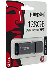 Kingston DataTraveler 100 G3- DT100G3/218GB USB 3.0, 3.1 Clé USB , 128 GB, Noir