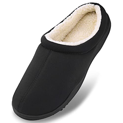 79867e76a Men s Winter Warm Fleece Lined Memory Foam Slippers Slip On Clogs Indoor  Outdoor House Shoes with