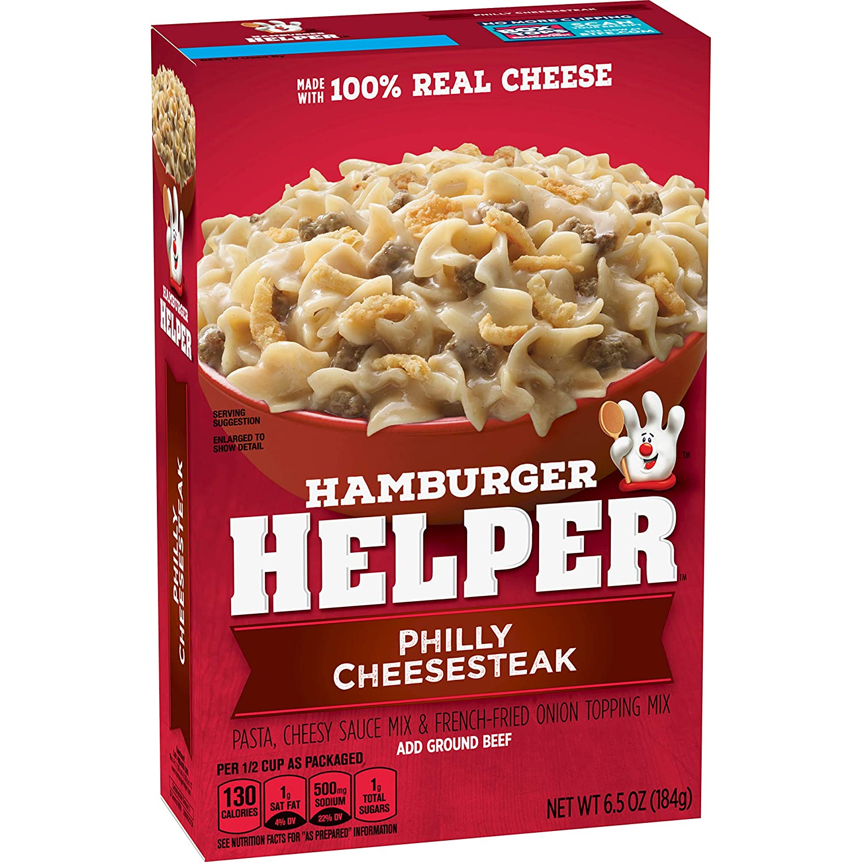 Betty Crocker Philly Cheesesteak Hamburger Helper 6.5 oz. Box (pack of 12)