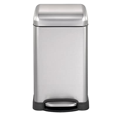 Black/&Silver Jolie Max 90L Dual Compartment Kitchen Rubbish Bin Waste Recycling And Laundry Basket