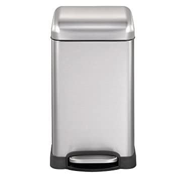 Mari Home Contenedor de Reciclaje | Cubo Basura 12L con Tapa Domo | Acero Inoxidable |