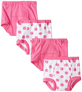 Baby Bloomers 6 Months Gerber Girls Training Pants, Polka Dot, 18 Months - Pack of 4