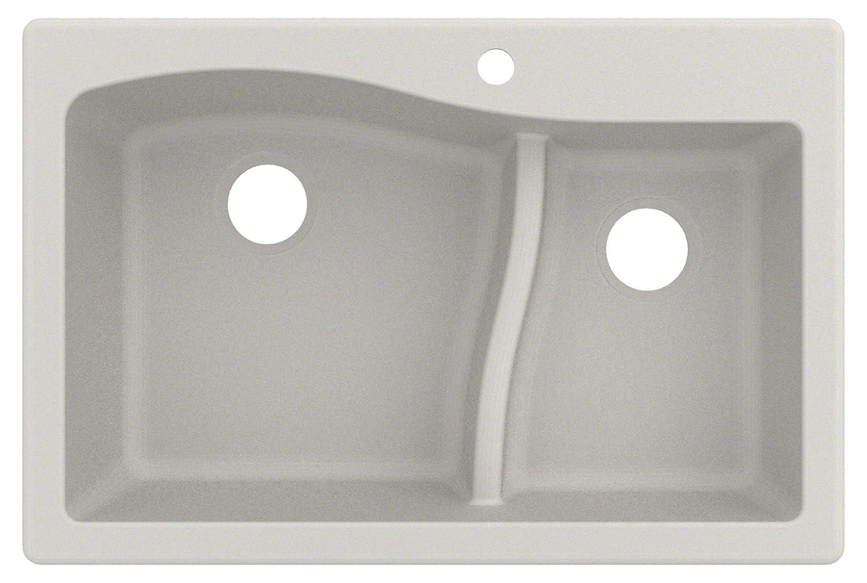 Kraus KGD-442WHITE Quarza Granite Kitchen Sink 33-inch White