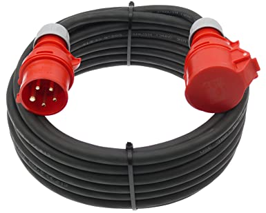 32A Starkstrom Kabel 400V 2 Meter Stromkabel Verlängerungskabel Kabel Baustrom