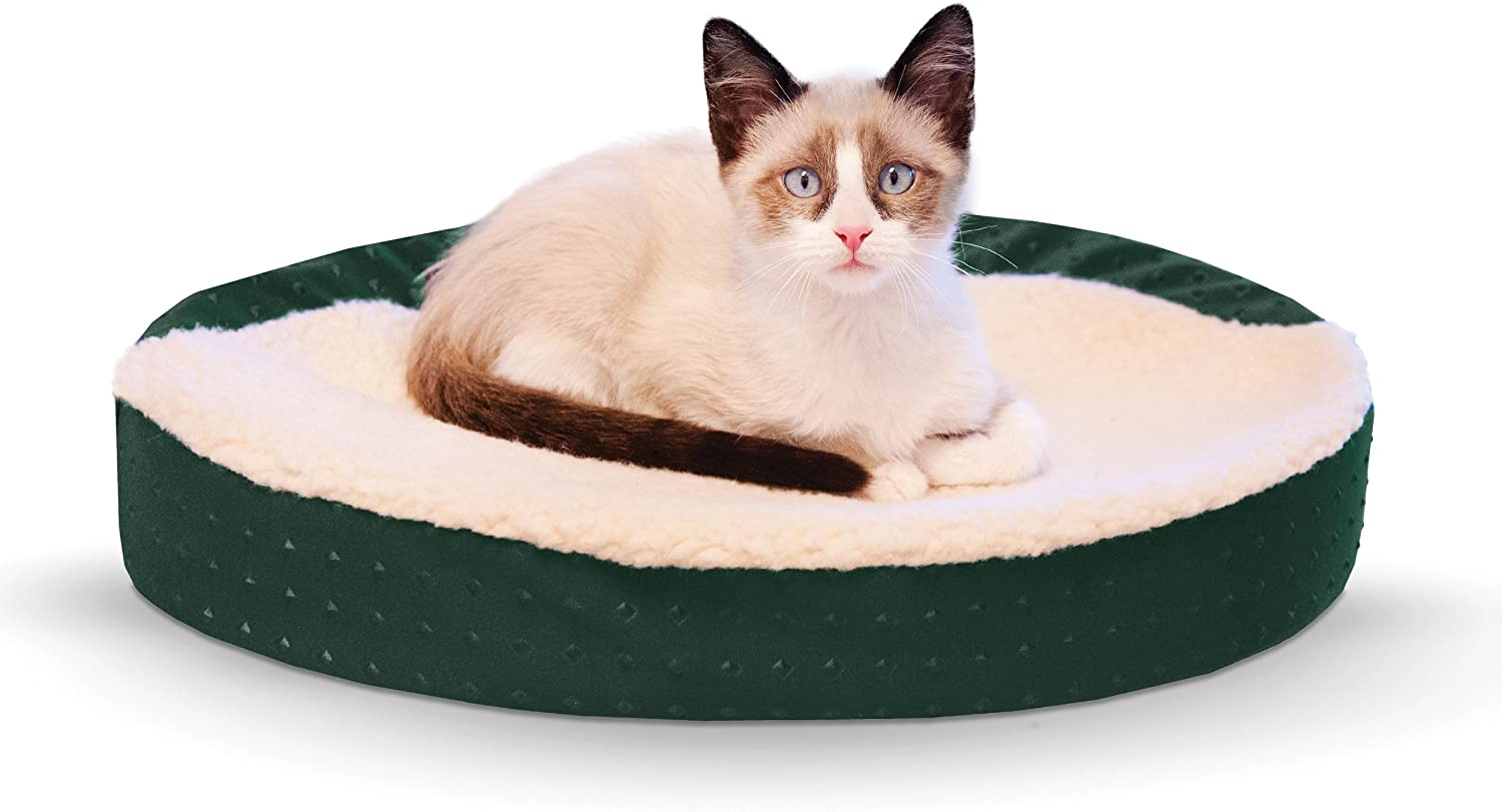 K H Pet Products Ultra Memory Oval Cuddle Nest Memory Foam Pet Bed
