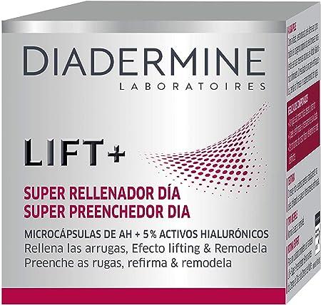 Diadermine - Crema de Día Lift+ Super Rellenador con micro cápuslas de Ácido Hialurónico - 50 ml