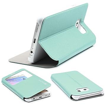 Urcover® Funda Galaxy S6 Edge Plus, Carcasa Libro S-View, Cierre magnetico, Funcion Soporte, Anti-arañazos, Billetera Flip Cover Protector Samsung ...
