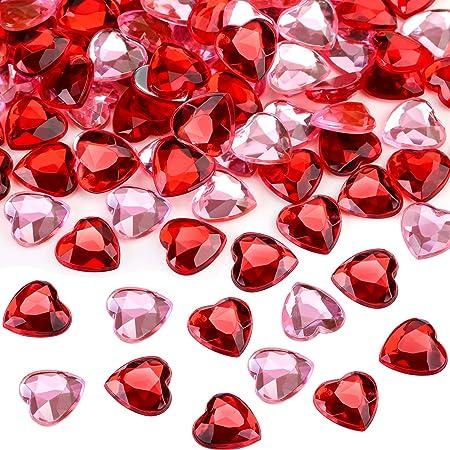 TOAOB 5000 Pi/èces 3mm Rouge Plexiglas Diamant Scattering Diamants Cristaux D/éco Pierres De Mariage Cristal Table Confettis Table D/écoration